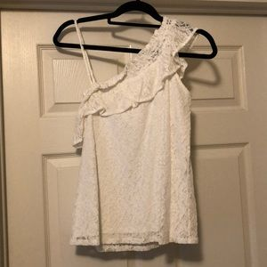 Off the shoulder lace tank top NWOT!